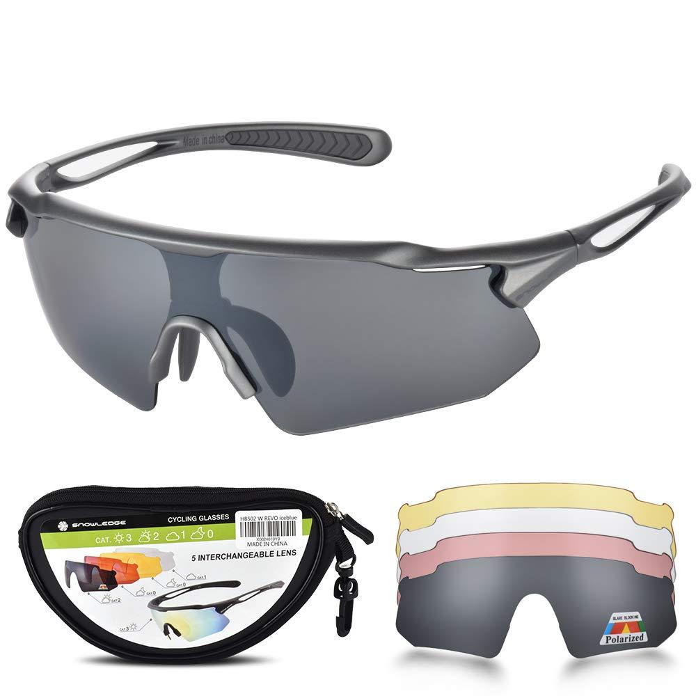 Snowledge Sportbrille Herren und Damen Sonnenbrille Erwachsene Sport Radbrille