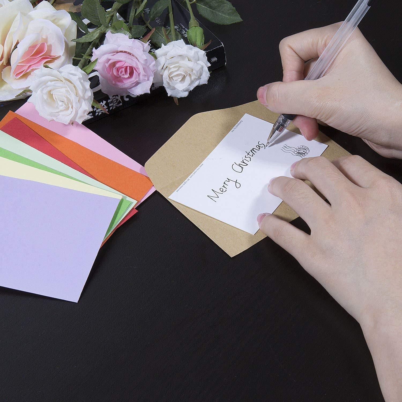 Febbya Briefumschläge Mini,100 Stücke Geschenkkarte Umschläge Sweet Multi-Nutzung