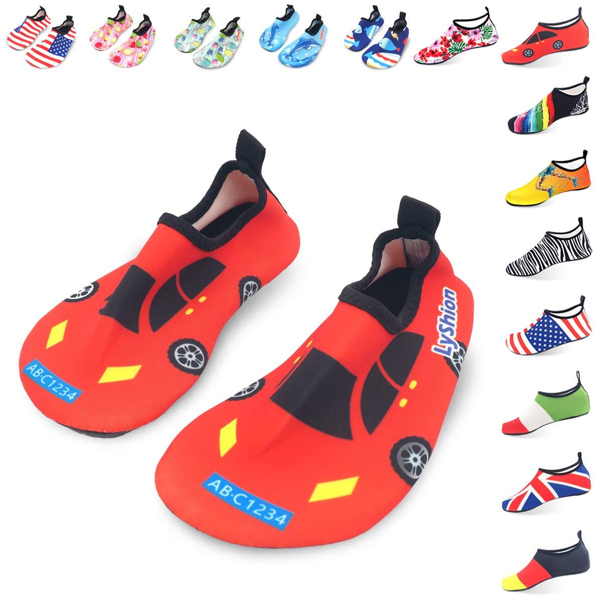 LYSHION Badeschuhe Schlüpfen Schnelltrocknend Schwimmen Aquaschuhe Wasserschuhe Surfschuhe Schwimmschuhe