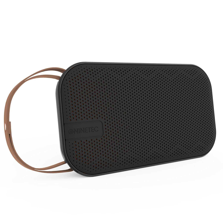 NINETEC Desire Bluetooth Lautsprecher 20W NFC AUX Speaker Leder Trageriemen
