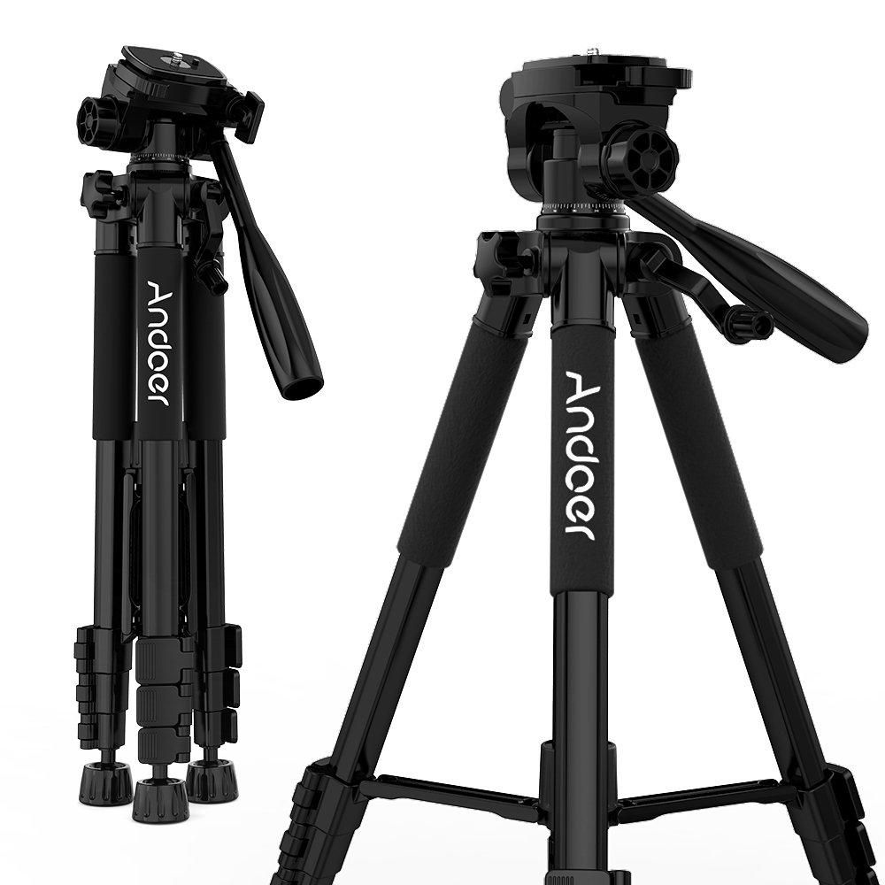 Andoer Reisestativ, 55″/1.4m Tragbares Kamera Stativ