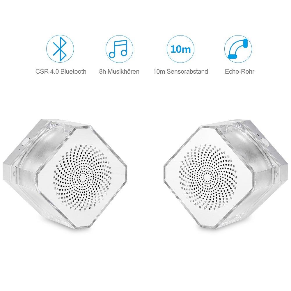 Bluetooth Lautsprecher Led, Mbuynow Wireless Lautsprecher Radio