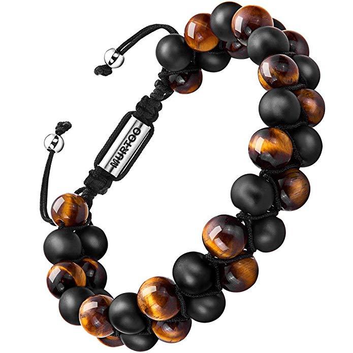 Armband Männer Perlenarmband Stein Armband mit einstellbar Verschluss Parfum Diffusor