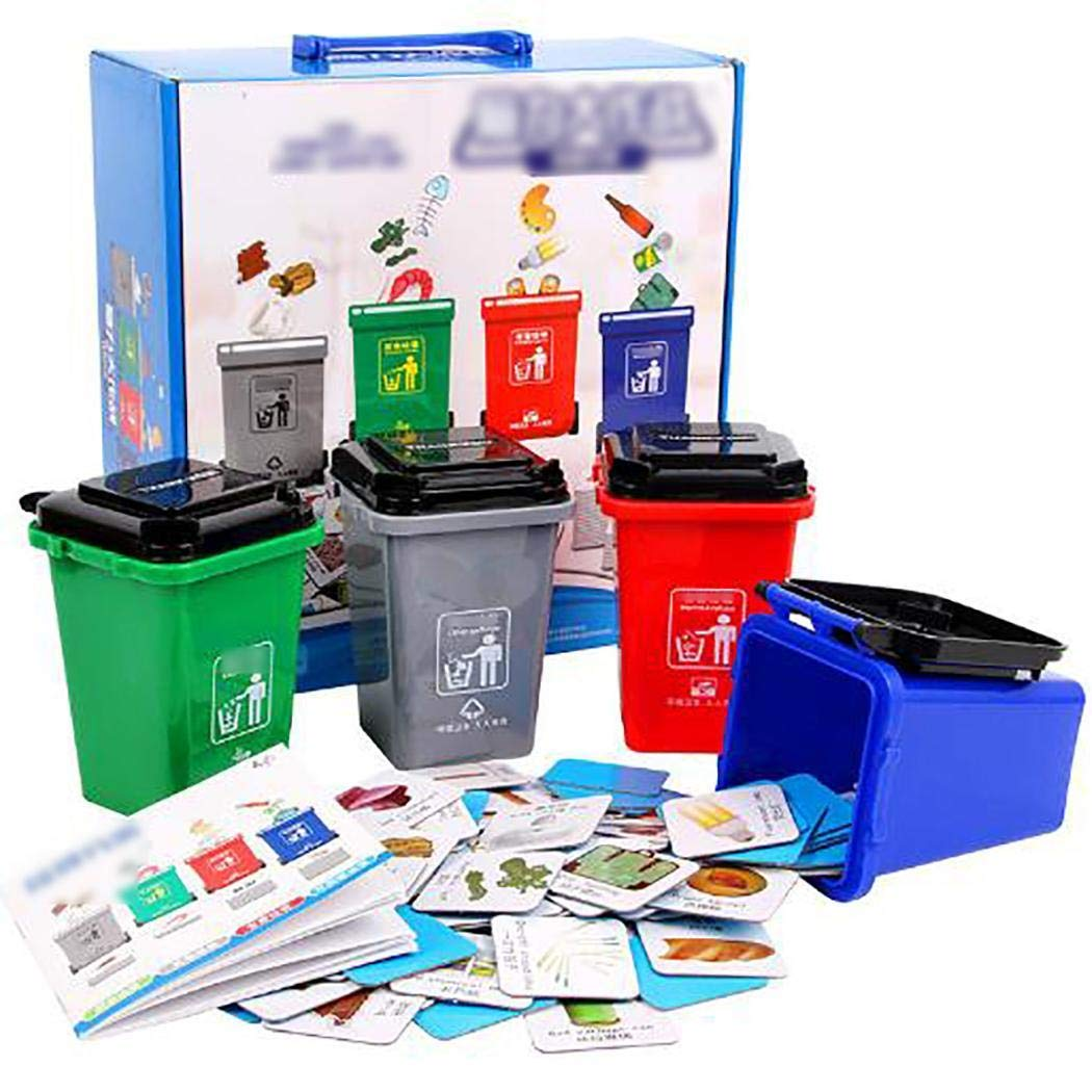 Xixini Kids Toy, Mini Kids 4 Müll Klassifizierung Mülleimer