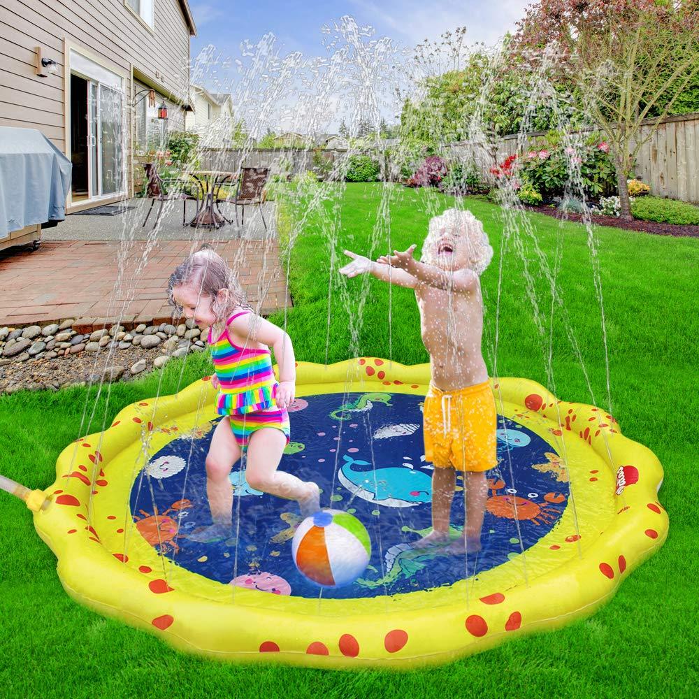 VATOS Splash Pad Wasserspielzeug spielmatte Outdoor Sommer Garten Splash Spielmatte