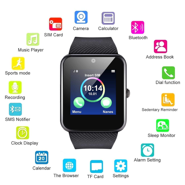 Bluetooth Smart Watch, Smart Wrist Watch Fitness Tracker Bracelet Sport Watch