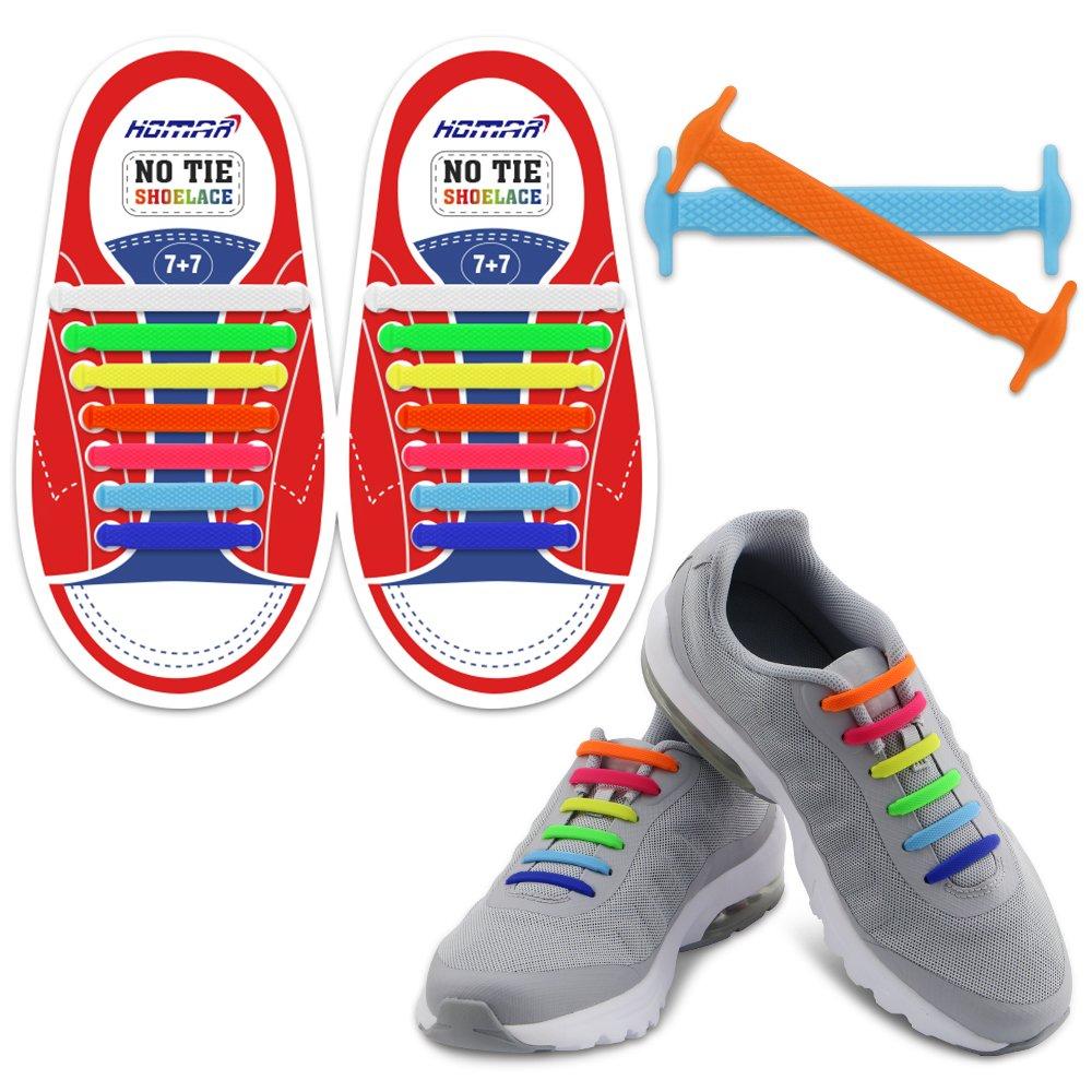 HOMAR No Tie Shoelaces für Kinder und Erwachsene