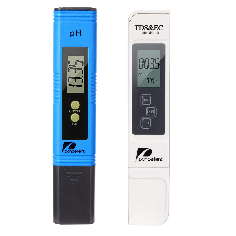 Pancellent Wasserqualitätstest Messgerät TDS PH EC Temperatur 4 in 1 Set