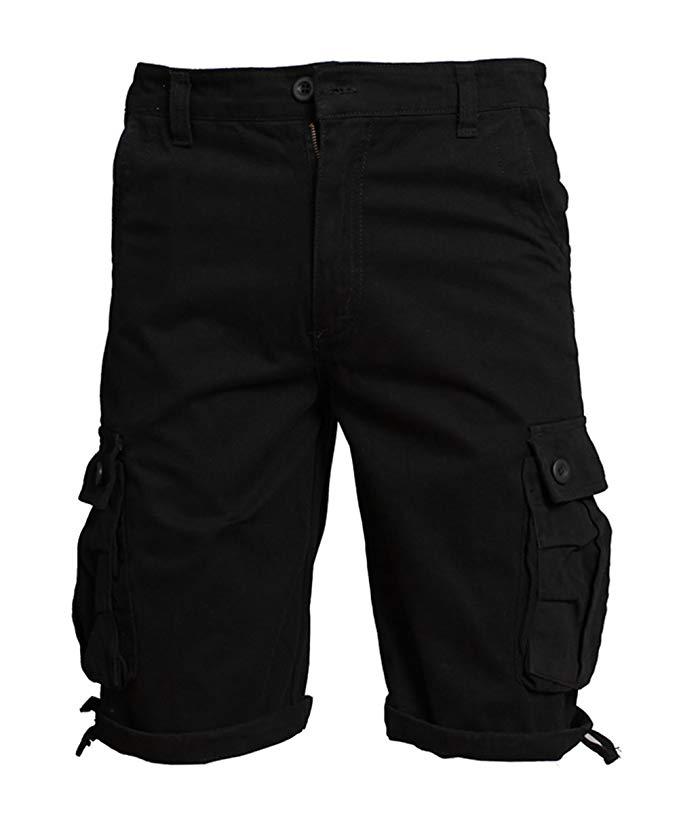 Allthemen Herren Kurz Cargohose Chino Shorts mit Mehr Taschen Freizeit Kurzhose