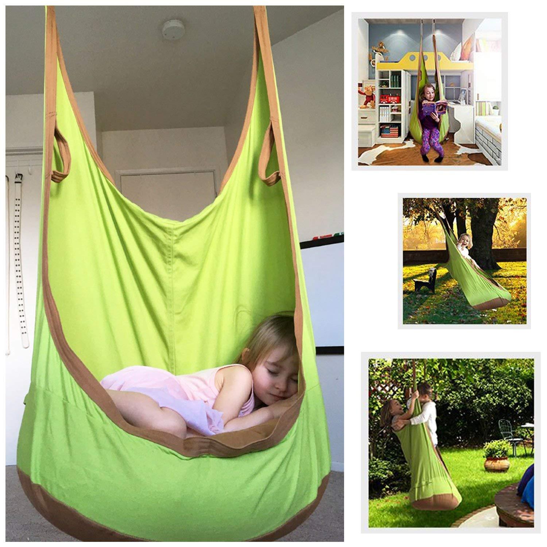 femor Hängesessel, Hängehöhle, Hängematten aus Baumwolle ideal für Kinder