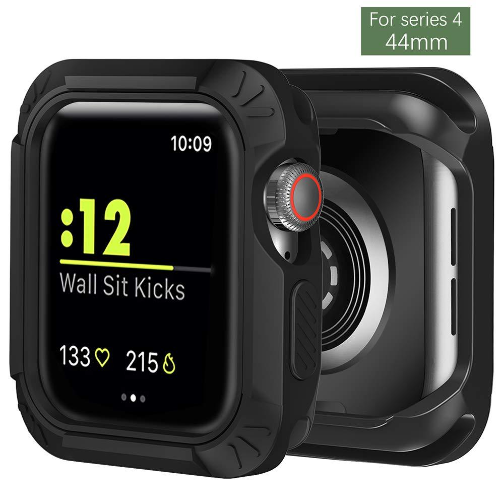 Kompatibel für Apple Watch 4/3/2/1 Hülle, TPU+PC Doppel Schutzhülle [Tough Armor] Extrem Hoher Fallschutz & Kratzfest Schutz
