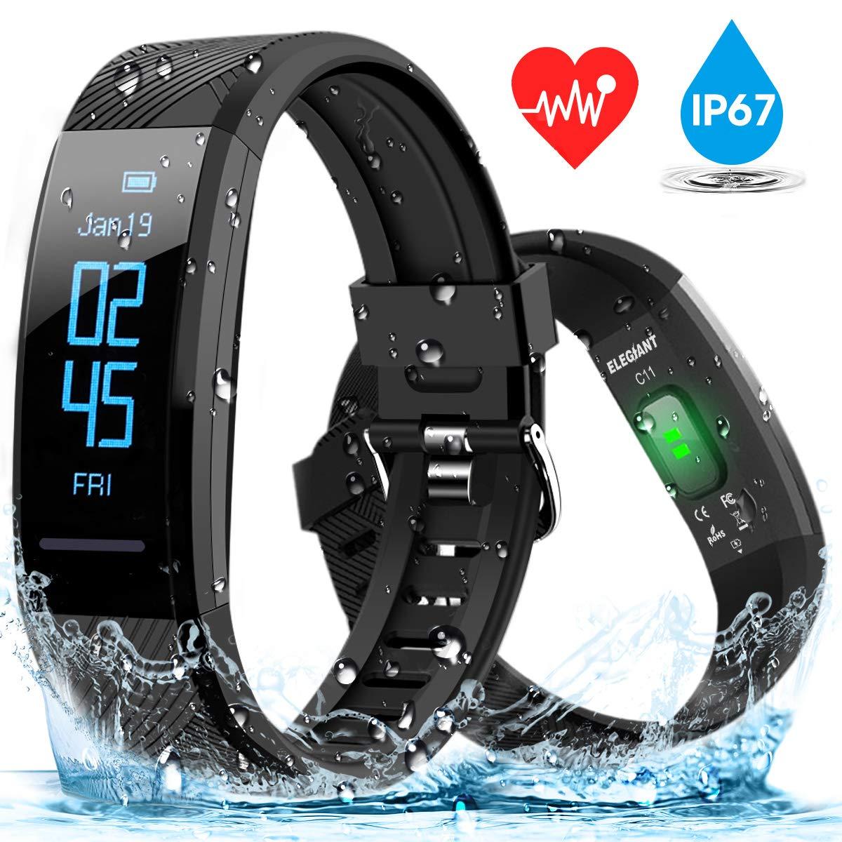 ELEGIANT Fitness Armband, Fitness Tracker Pulsmesser Smartwatch