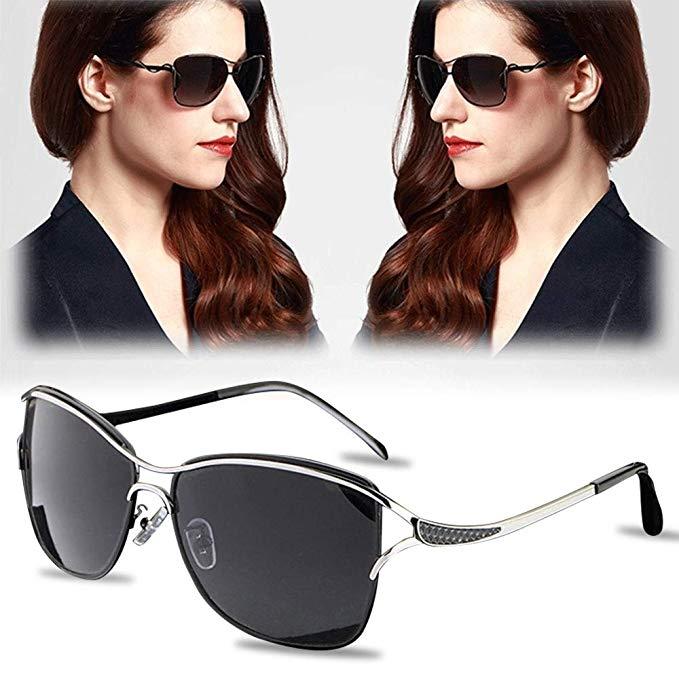 Damen Modische Sonnenbrille Polarisierte Brille 100% UV400 Schutz Shopping Sonnenbrille