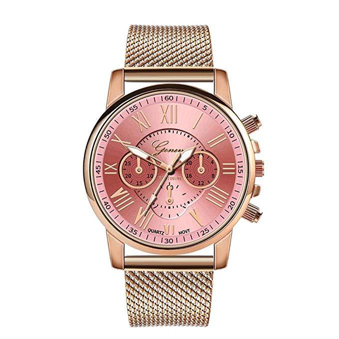 80% off  Tiowea Damenmode-Quarz-Uhr-beiläufige Metallgeschenk-Armbanduhr Uhren