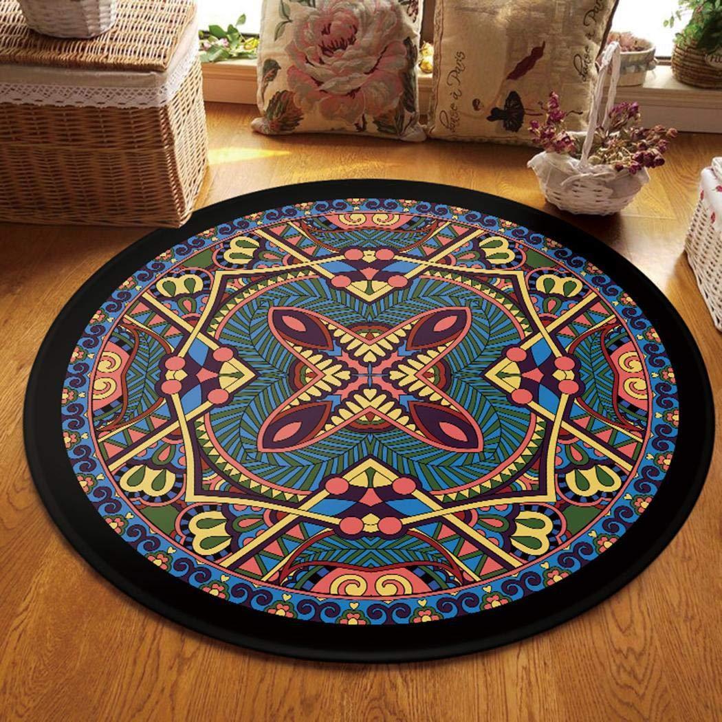 Tiowea rutschfeste maschinenwaschbare runde Teppich