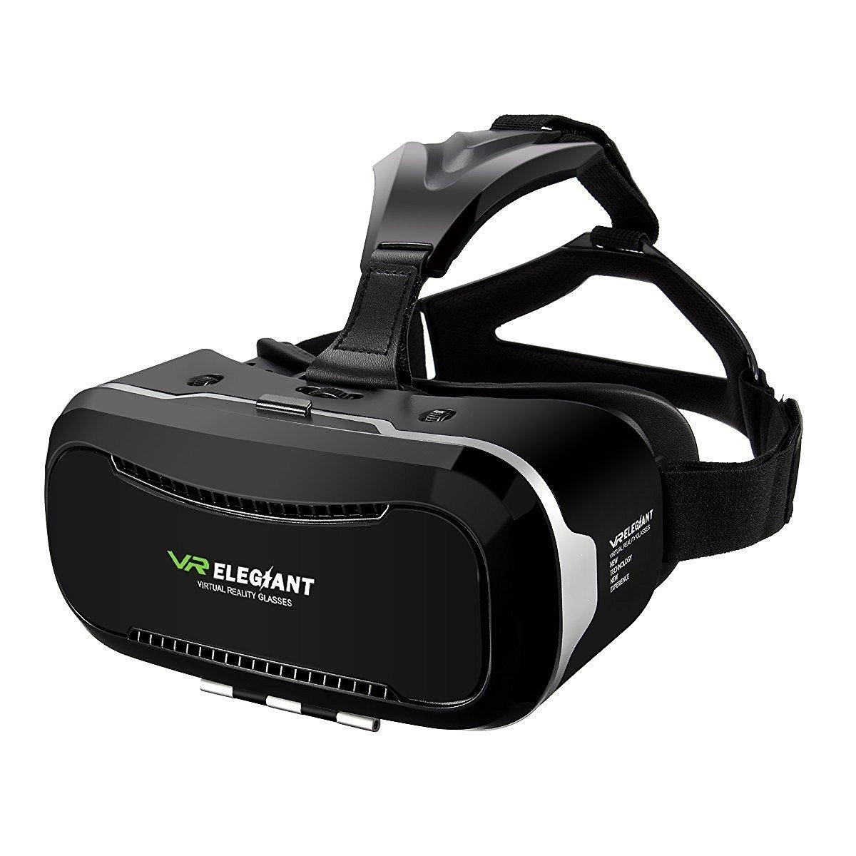 ELEGIANT 3D VR Headset, Universal 3D VR Brille Einstellbar Brille Video Movie Game Brille Virtual 3D Reality Glasses
