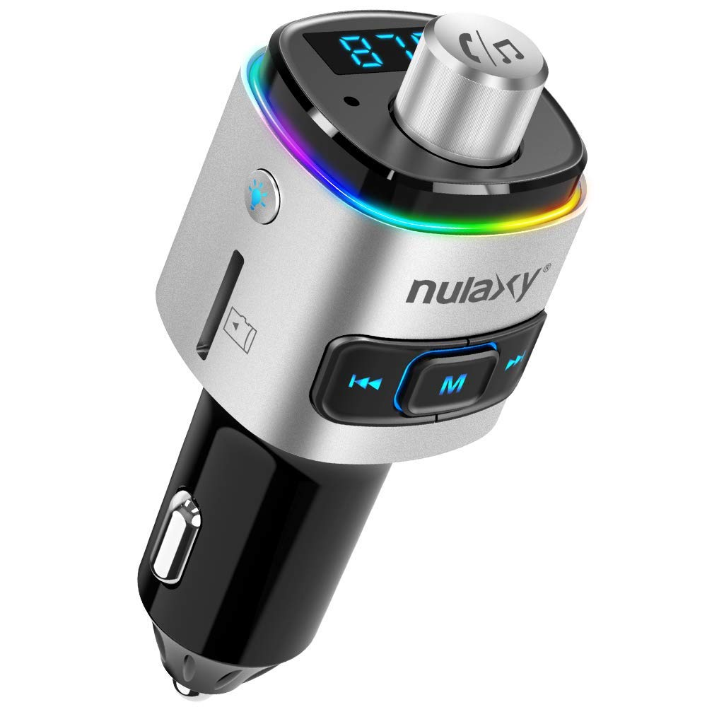NULAXY Bluetooth Auto FM Transmitter Adapter