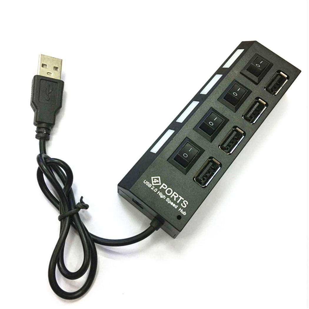 80% off Tiowea USB 2.0-Hub-Splitter-Switches mit 4 Ports für Mobiltelefone Netzwerk-Hubs & Switches
