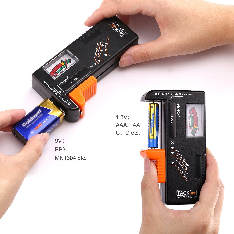 Tacklife MBT01 Batterietester Akkutester Batterieprüfergerät