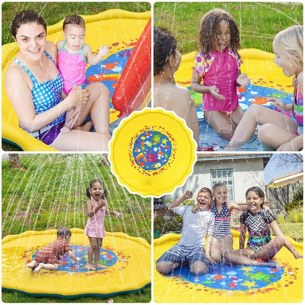 """80% off Wekold 39 """"59"""" 67 """"Spritzwasser-Spielmatte, aufblasbares Sprinklerpad, Sommerspray-Spielzeug Perfekt"""