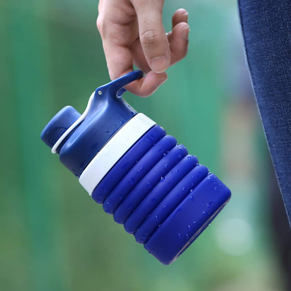 Lixada Klappbare Wasserflasche FDA Approved Water Bottle