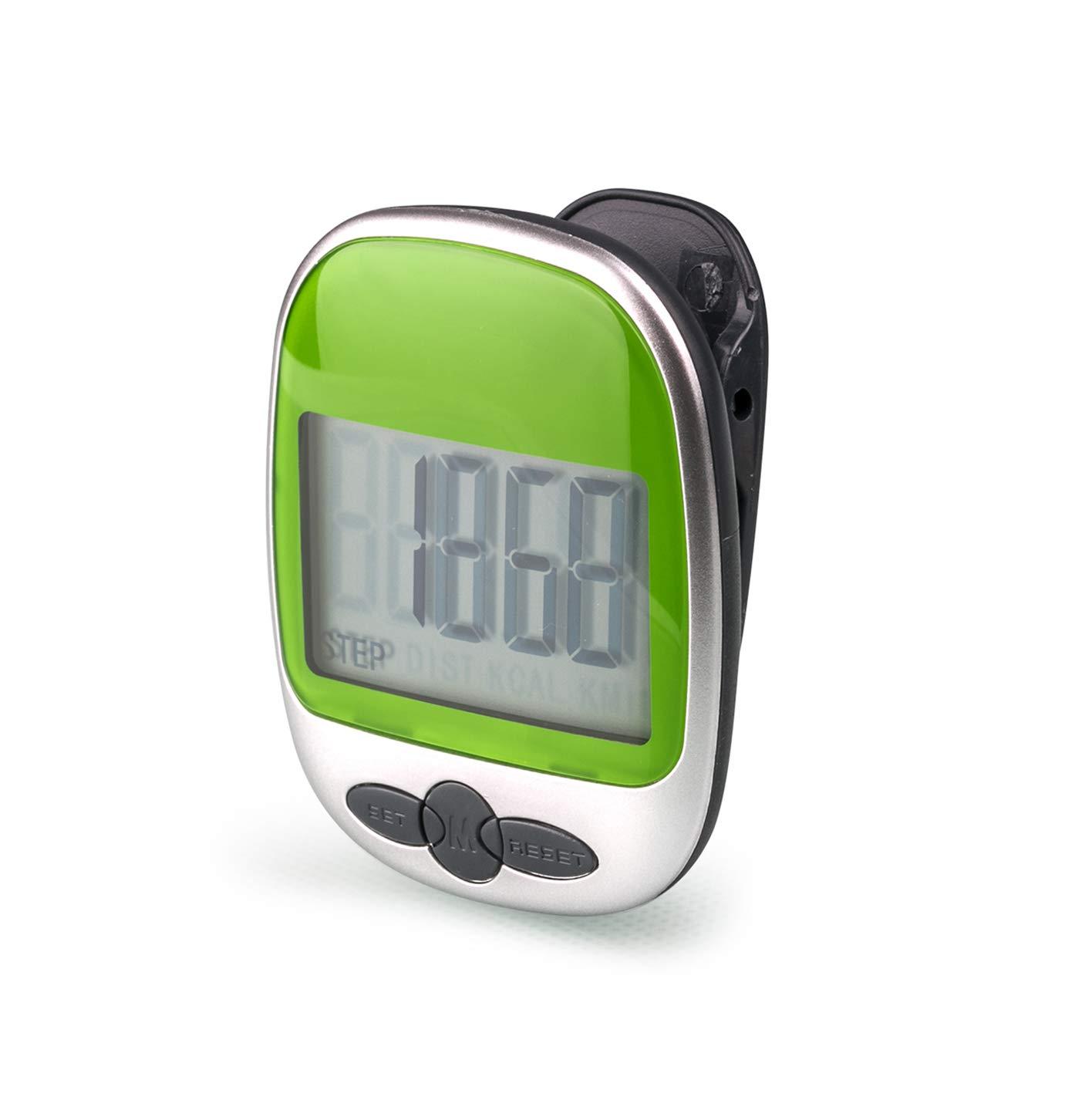 LEBEXY Schrittzähler Pedometer mit Clip Einfache