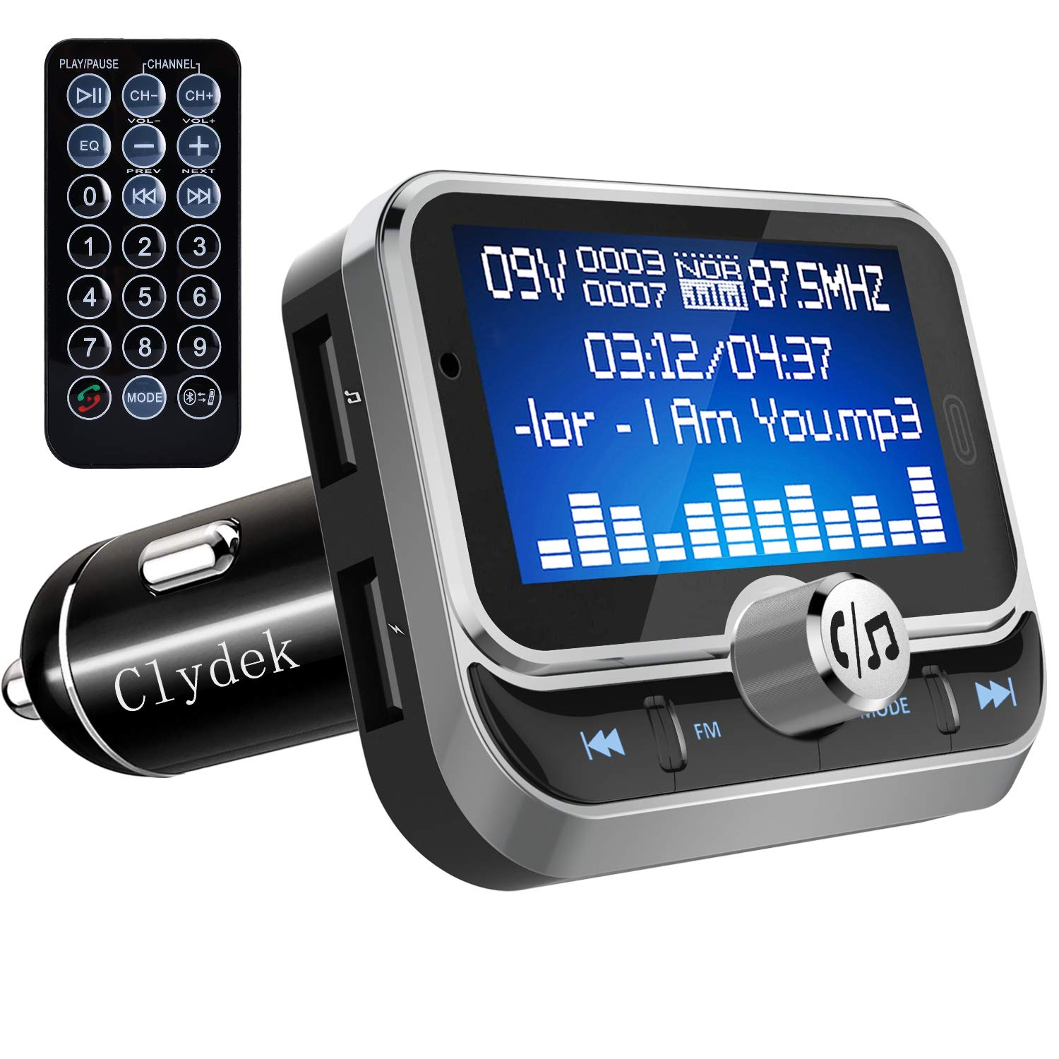 Clydek Bluetooth FM Transmitter Radio Adapter Car Kit