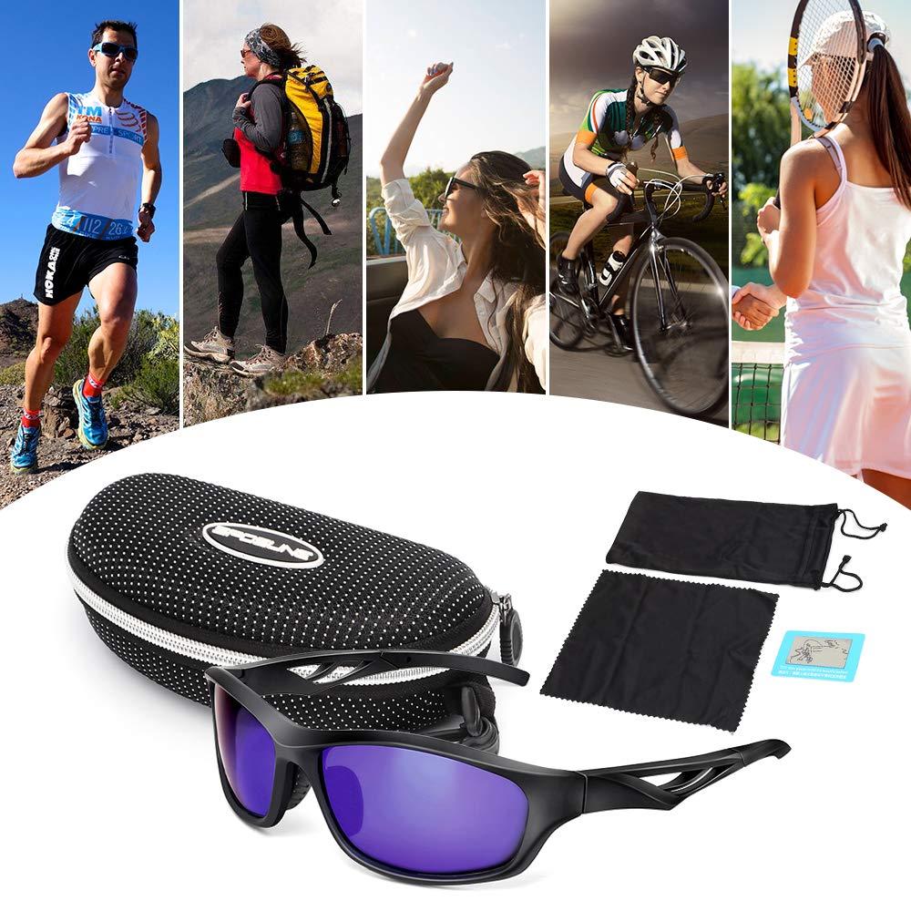 Lixada Radsportbrille UV400 Schutzbrille Polarisierte Sport Sonnenbrille