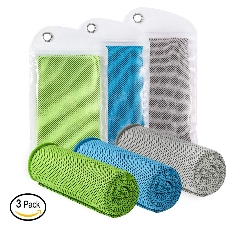 LEBEXY Kühlendes Handtuch | Kühlhandtuch | Sporthandtuch Ultraleicht Kühltuch
