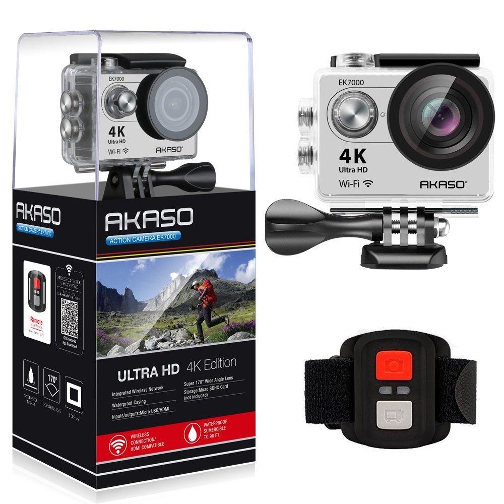 AKASO Action Cam 4K WiFi Sport Action Kamera 170°Ultra Weitwinkel Full HD Camera