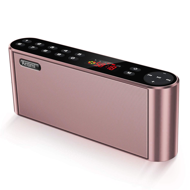 Antimi Bluetooth Lautsprecher,Mobiler Digital FM Radio