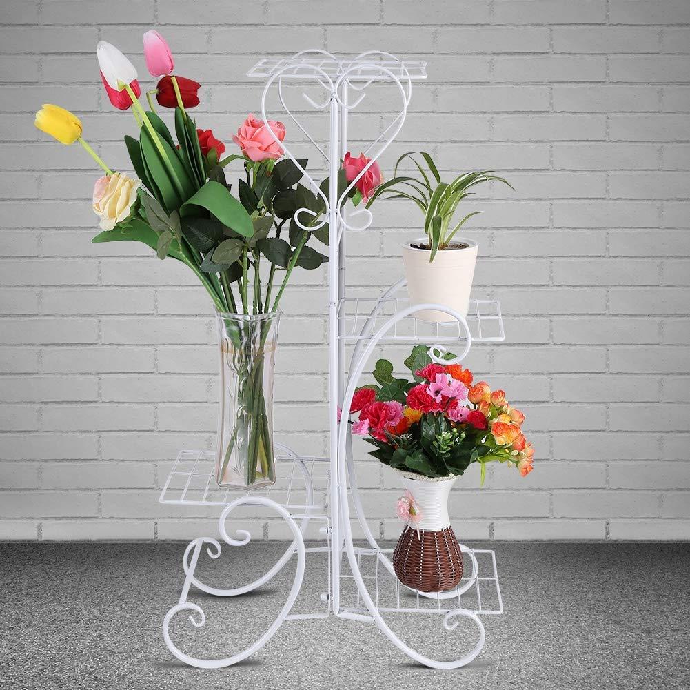 Ejoyous Blumenständer, Pflanzenständer aus Metall Blumenhalter Topf