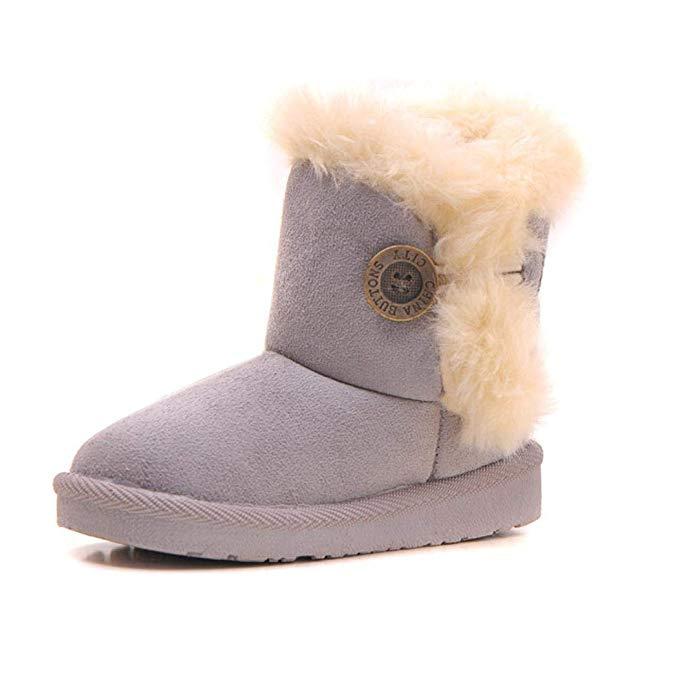 Tomasa Winter Kids Schneeschuhe Kinder warme Stiefel Feste Wildlederstiefel