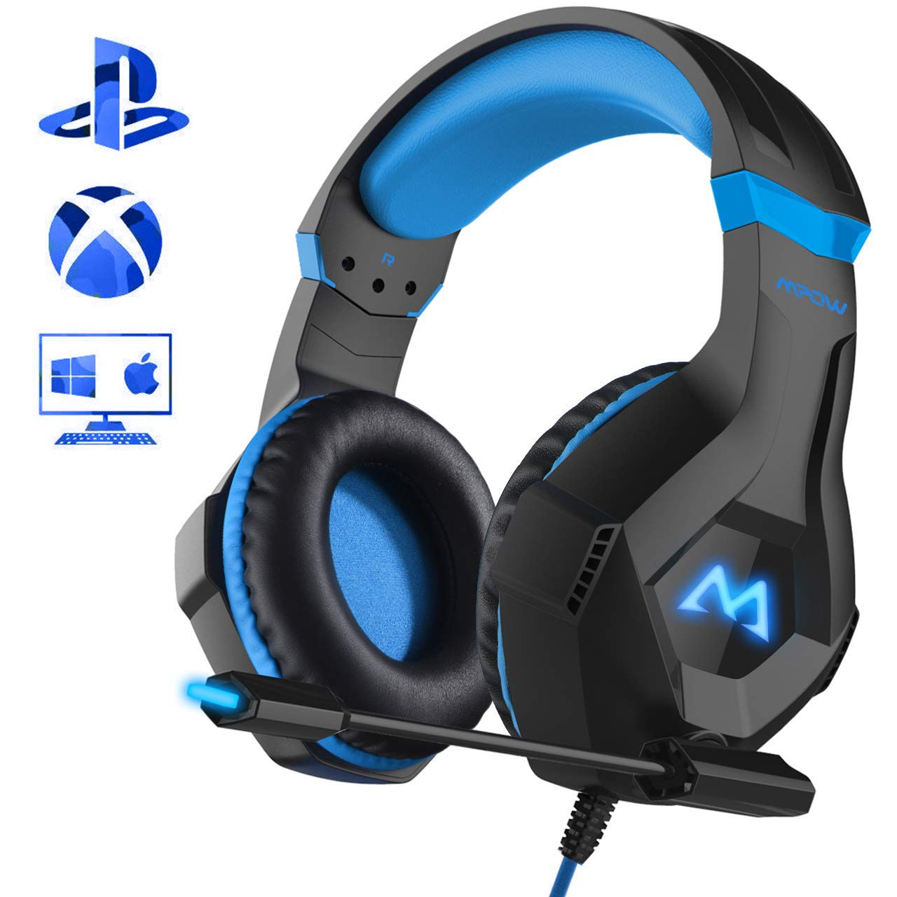 Mpow Gaming Kopfhörer für PC PS4 Xbox One