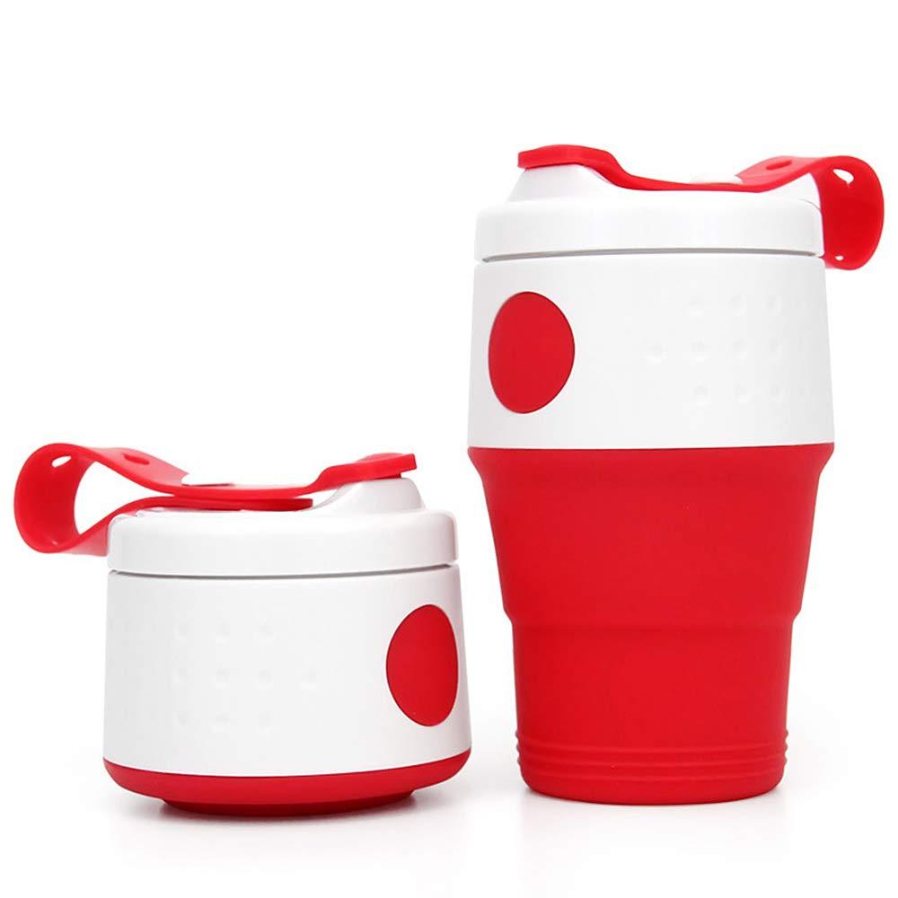 Lixada Faltbare Tasse Silikon Faltbecher 395ml Kaffee Camping Tasse