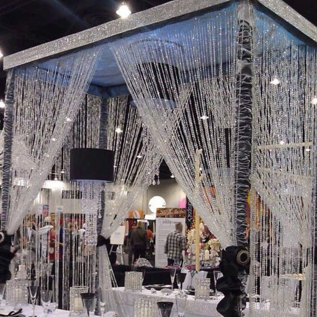Wekold 10M Achteckige Kristallperlen Fenster Tür Vorhänge DIY Dekoration