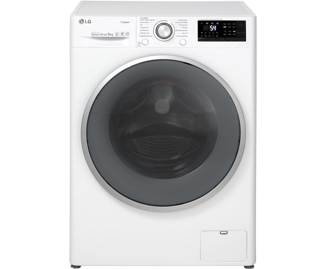 LG F 14U2 VDN1H Waschmaschine – Weiß, 9 kg