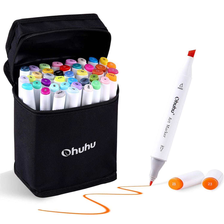 Graffiti Stift Permanent Marker, Ohuhu 40 Farbe Stiften Marker Pen