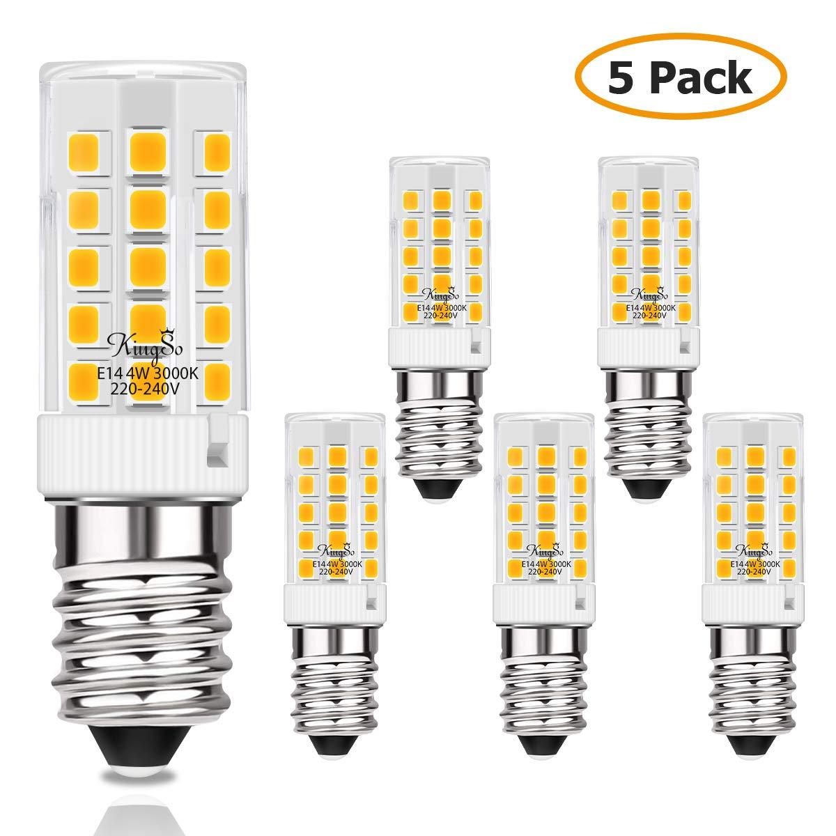 KINGSO E14 LED Lampe 4w 450lm Warmweiss Ersatz für 40W Halogenlampen