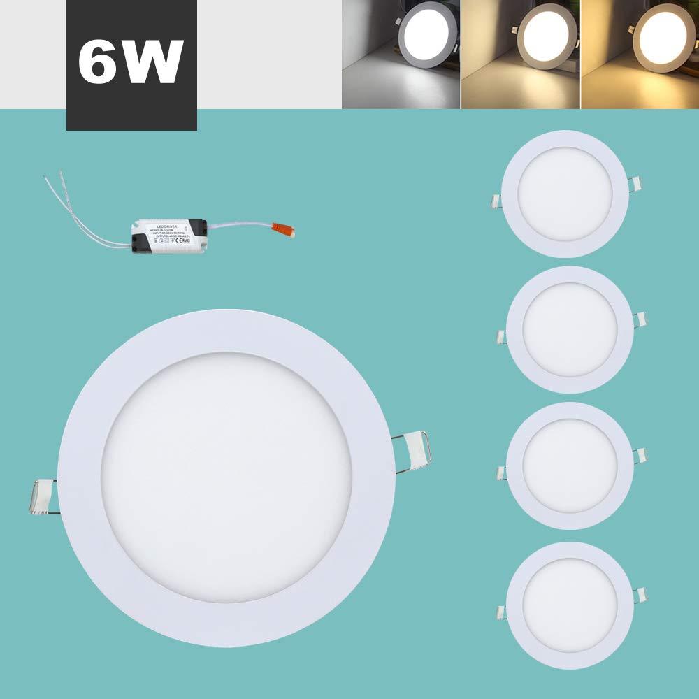 5x6W Rund LED Panel, Einaustrahler Deckenstrahler Panellampe