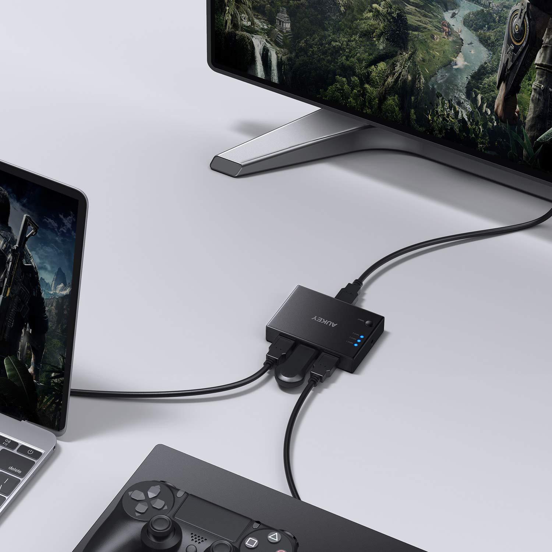 AUKEY HDMI Switch 4K mit Fernbedienung HDMI Switch