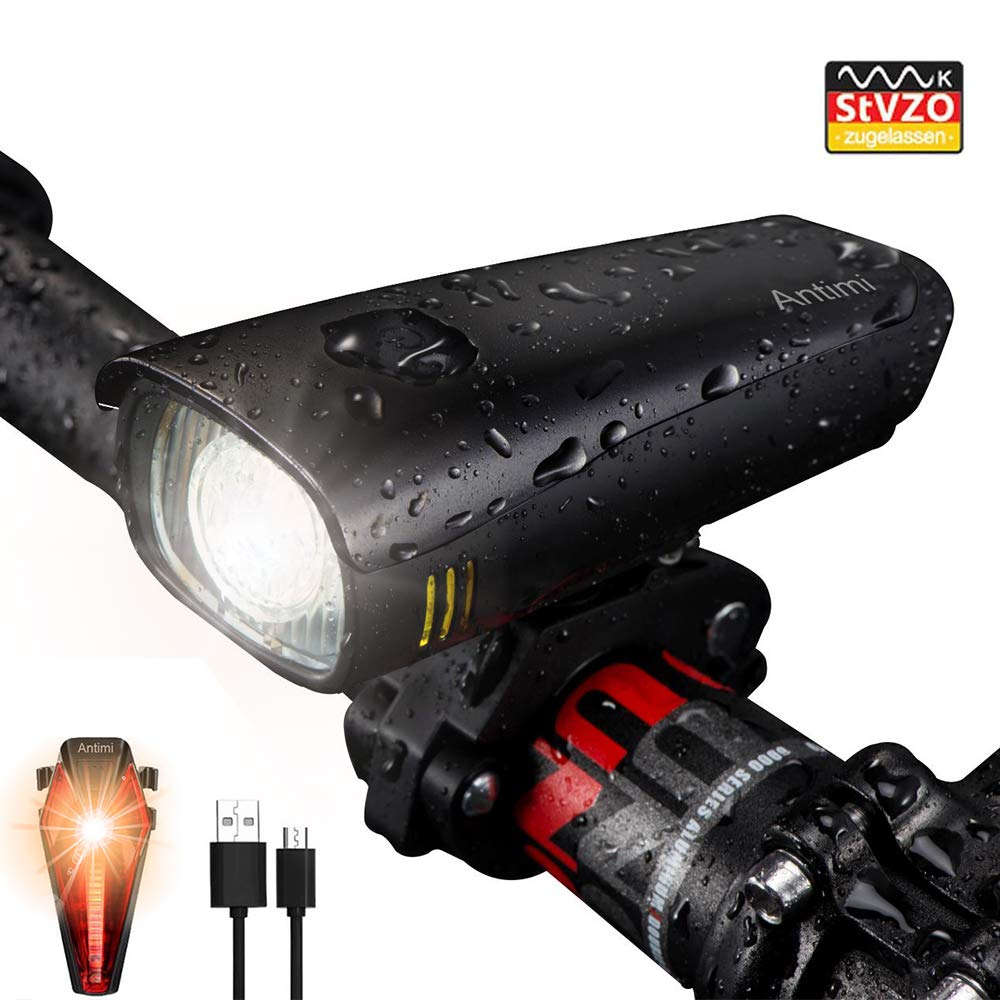 Antimi StVZO LED Fahrradlicht Set