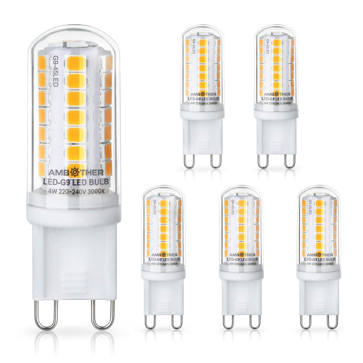 AMBOTHER G9 LED Lampen statt 40W Halogenlampen