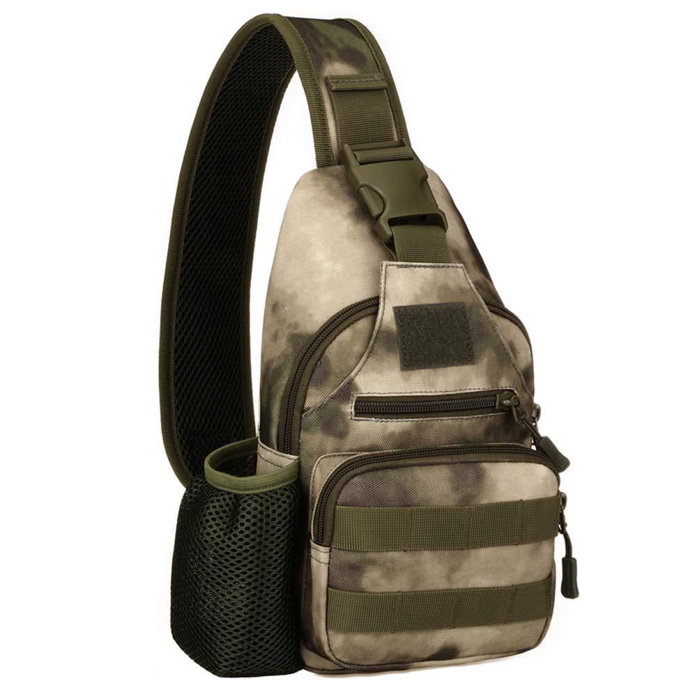 Lixada Taktisch Brusttasche Reiten Camouflage Nylon MilitaryWater Bottle