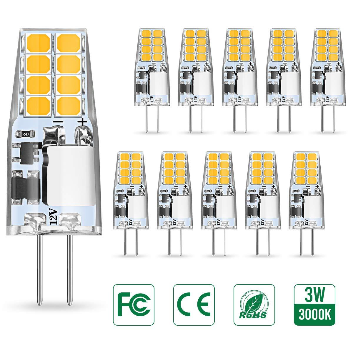 AMBOTHER G4 LED Lampen, 3W LED Birnen ersetzt 35W Halogenlampen
