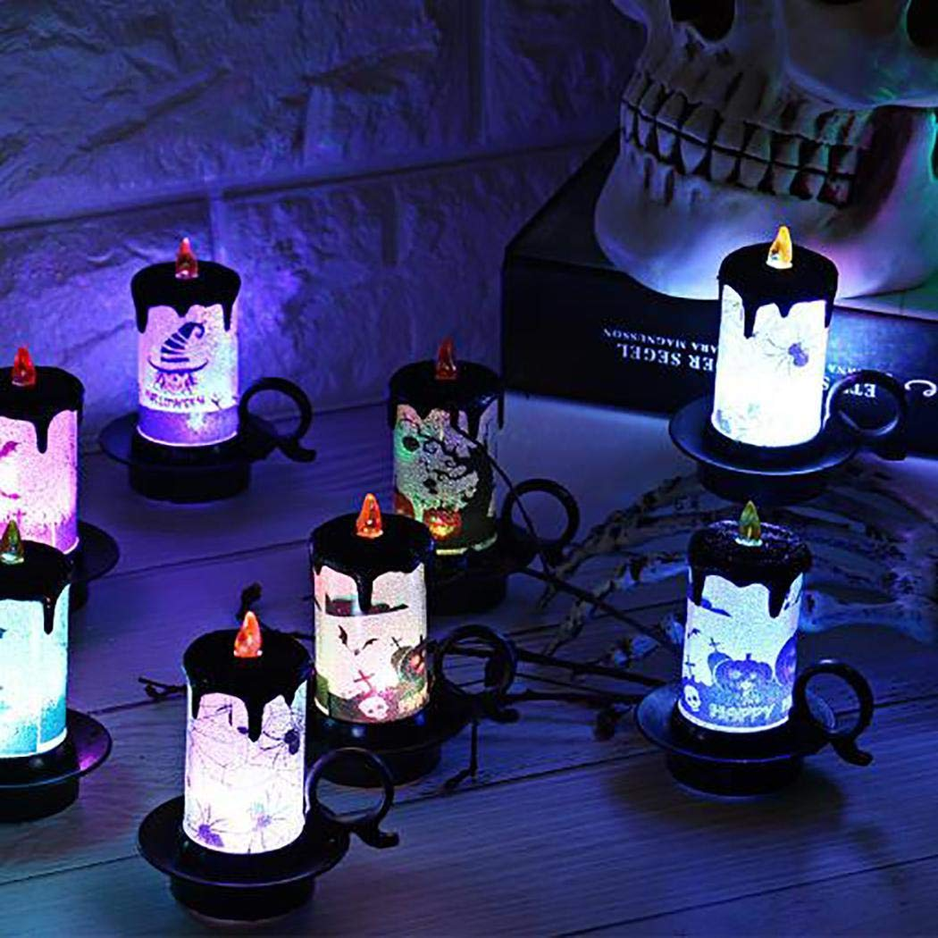 GUIGSI LED Kerzenlicht Flammenlose Lampe Halloween Party Home Bar Décor