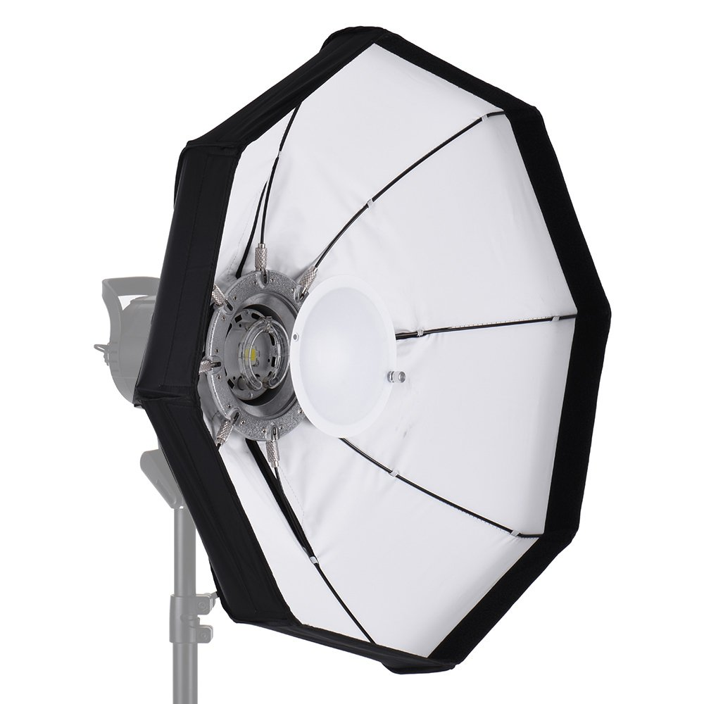 Andoer 60cm Softbox Faltbar Diffusor Beauty Dish 8 Pole