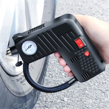 12V Portable Air Tire Inflator Pump LED Safety Hammer Compressor Cordless