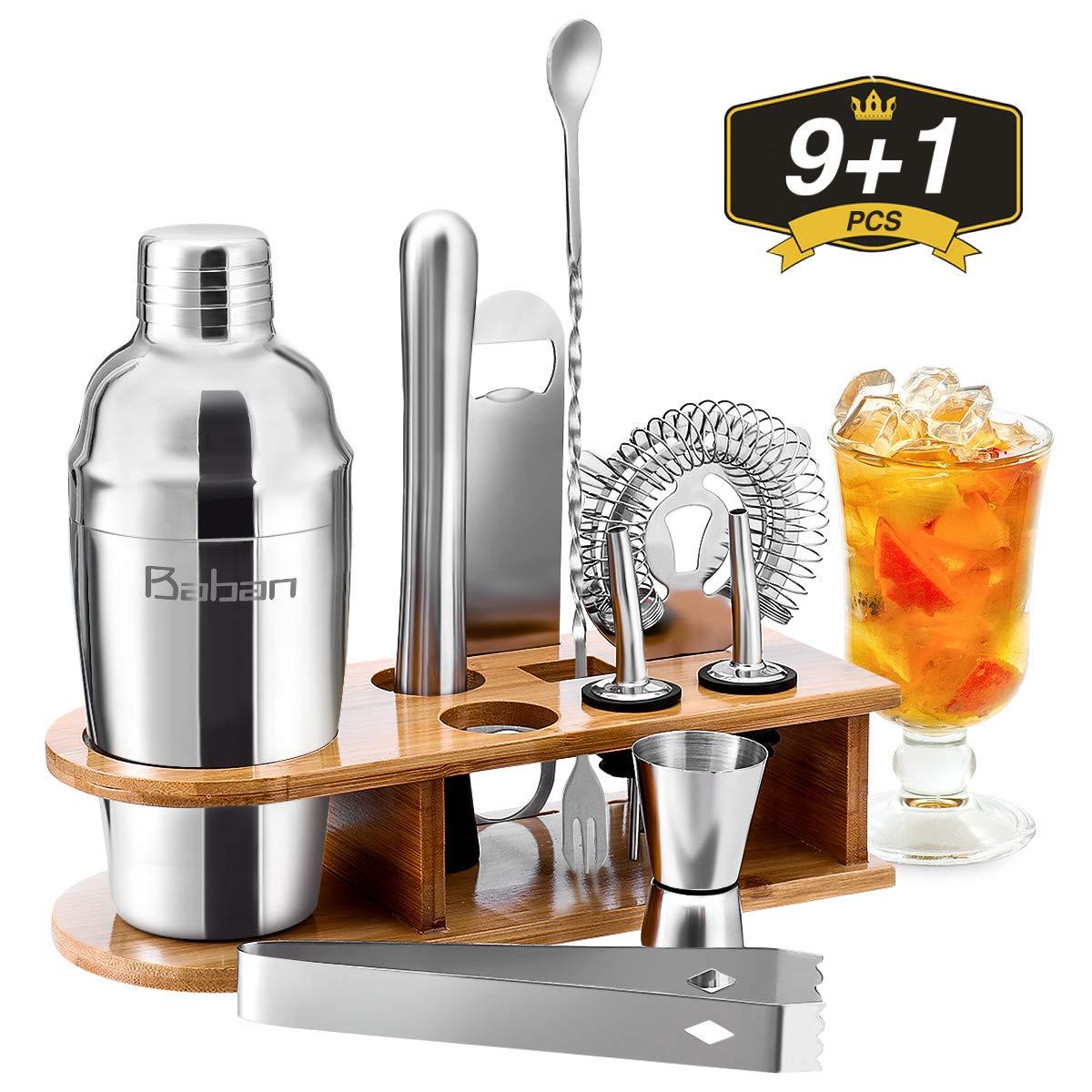 Baban Cocktail Shaker Set, 10tlg Cocktail Set