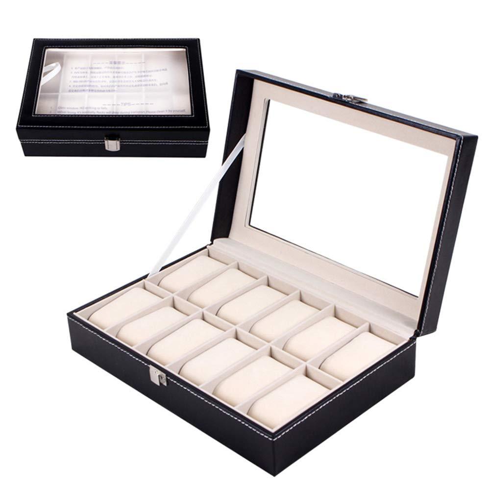 Mbuynow Uhrenbox 12 Uhren Uhrenkoffer Schaukasten Uhrenkasten Uhrenvitrine
